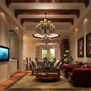 美式风格客厅背景墙效果图