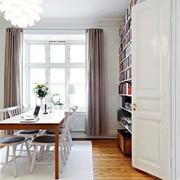 纯白色调舒适自然书房装修效果图