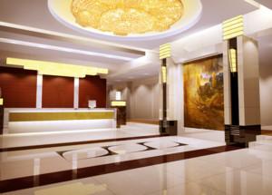 30平米自然酒店室内吊顶装修设计效果图