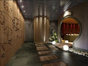 200平米自然的现代酒店背景墙装修效果图