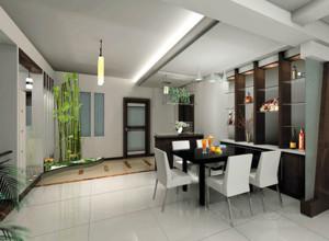 30平米自然精致的餐厅室内装修效果图