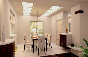 200平米自然风格的餐厅室内设计装修效果图
