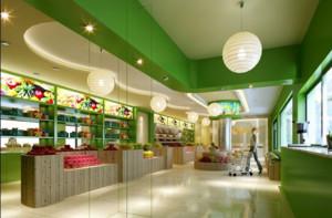 120平米自然的水果店吊顶设计装修效果图