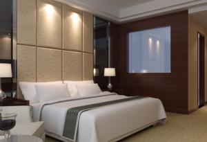 30平米自然宾馆室内背景墙设计装修效果图