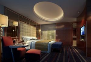 69平米自然的宾馆卧室装修效果图欣赏
