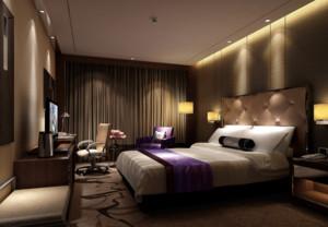 98平米自然宾馆卧室背景墙装修效果图欣赏