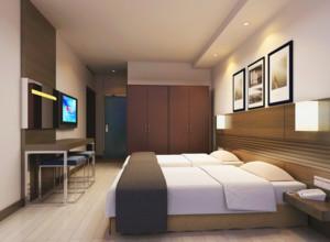 125平米自然的宾馆卧室吊顶装修效果图欣赏