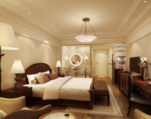 145平米自然风格宾馆卧室装修效果图欣赏
