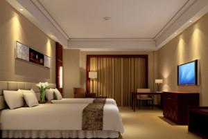 200平米经典自然宾馆室内窗帘装修效果图
