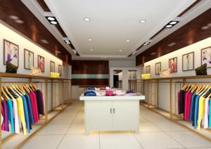 67平米都市精致服装店室内设计装修效果图