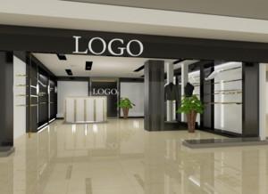 136平米都市精美服装店背景墙装修效果图实例