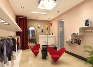 165平米都市唯美服装店装修设计效果图鉴赏