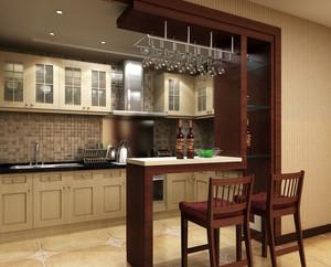 现代简约时尚家庭吧台装修效果图