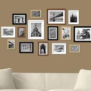时尚简约客厅照片墙效果图