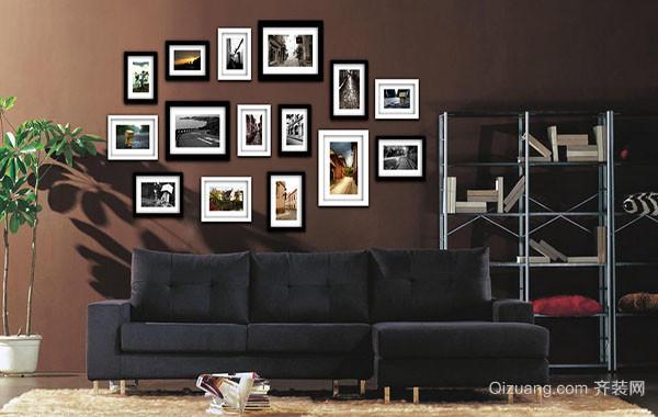 简单而时尚的客厅照片墙装修实例