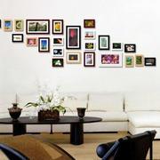 时尚精致客厅照片墙
