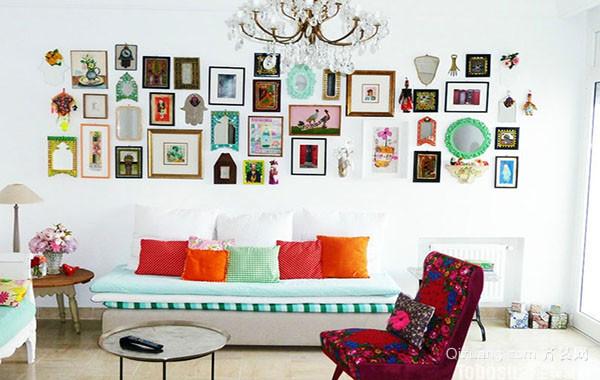 创意十足自然轻快照片墙装修效果图示例