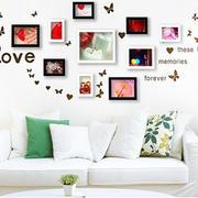 白色背景照片墙效果图
