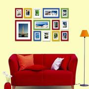 暖色调照片墙效果图