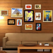 暖色调照片墙装修效果图
