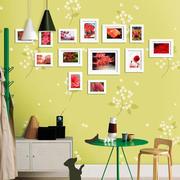 动感绿色照片墙效果图