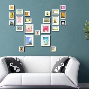 简约时尚照片墙装修效果图大全