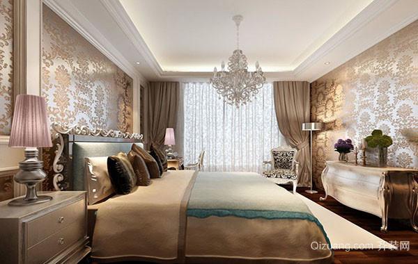简欧风格三居室卧室装修效果图实例