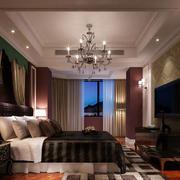 欧式风格卧室吊灯装修效果图