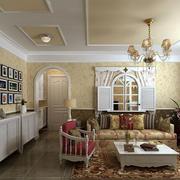 美式客厅整体设计