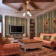美式精致客厅效果图