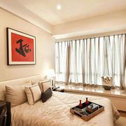 简约卧室飘窗装修效果图