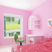 梦幻粉色儿童房效果图