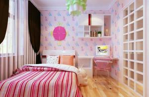 可爱女生粉色王国儿童房装修效果图
