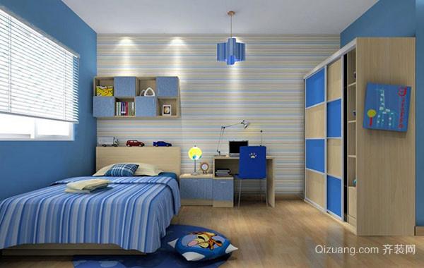 蓝色海洋主题儿童房装修效果图大全