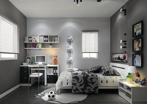 单身公寓简约卧室装修效果图