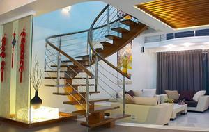 金典精致复式小楼别墅楼梯装修效果图