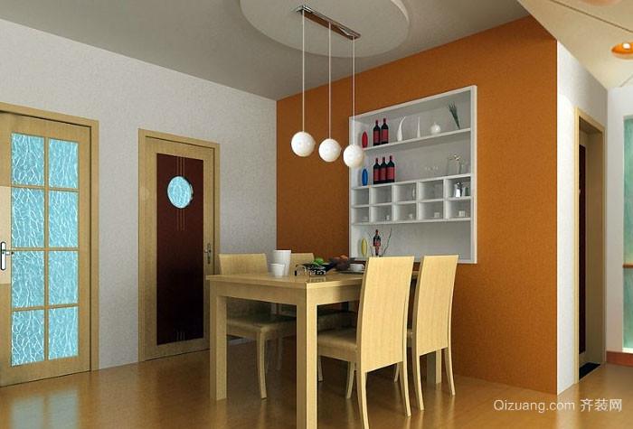 现代简约温馨餐厅创意吊顶装修效果图