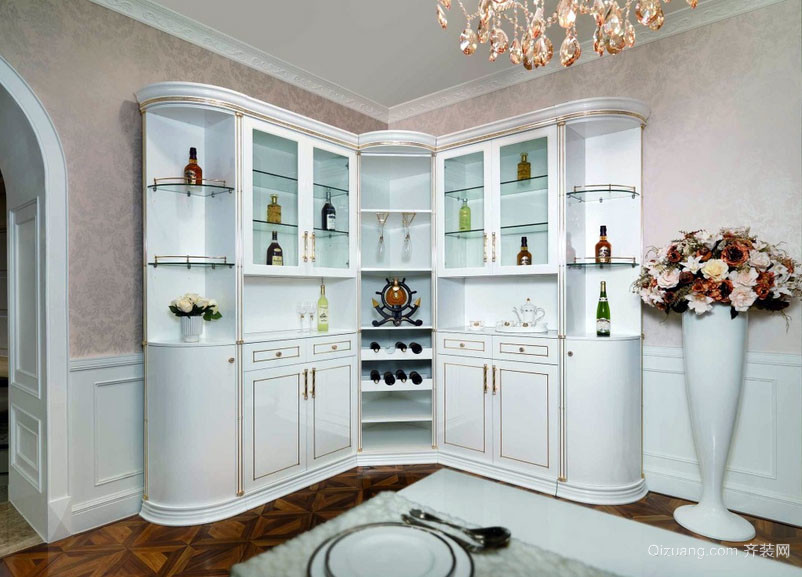 简欧风格完美设计酒柜装修效果图