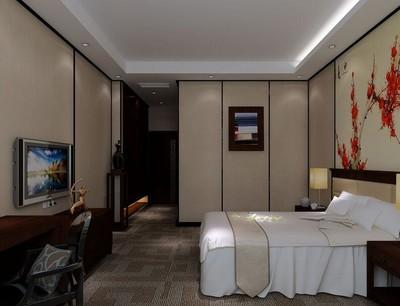 98平米都市賓館臥室背景墻裝修效果圖欣賞