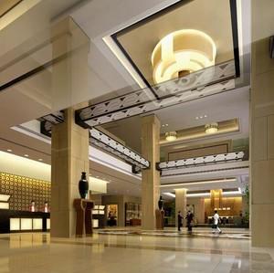 145平米都市宾馆大厅室内设计装修效果图