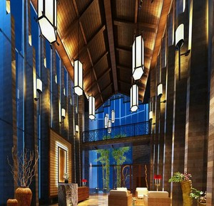 260平米都市宾馆室内背景墙装修效果图实例
