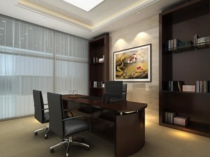 35平米清新办公室室内设计装修效果图欣赏