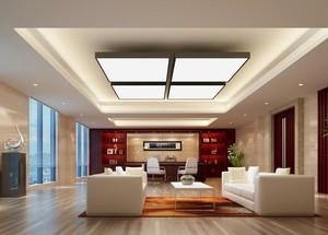 80平米清新风格办公室室内设计装修效果图