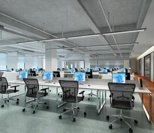 145平米都市完美办公室吊顶设计装修效果图