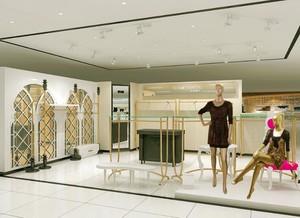 30平米清新服装店背景墙装修效果图欣赏
