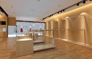 69平米清新的服装店背景墙装修效果图