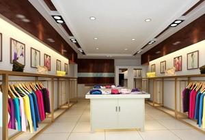 100平米清新服装店室内设计装修效果图