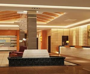 135平米清新酒店背景墙装修效果图实例