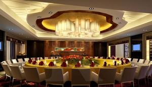 200平米都市清新的酒店吊顶装修设计效果图