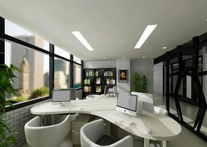 135平米轻快的办公室吊顶设计效果图